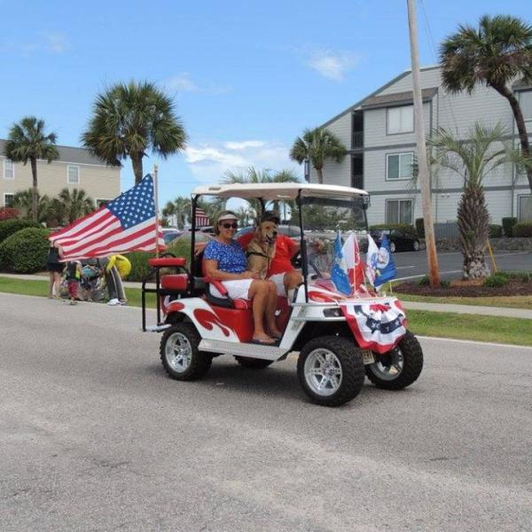 Memorial Day Golf Cart Parade in Surfside Beach