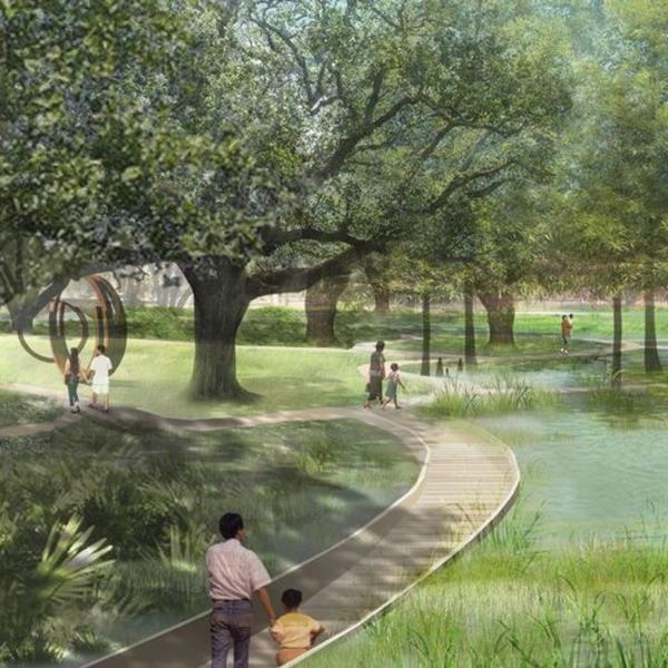 NOMA Sculpture Garden Rendering
