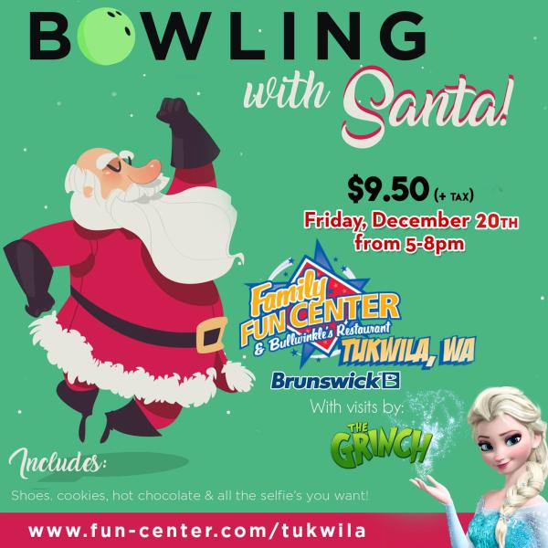 Bowling with Santa at Family Fun Center Flyer