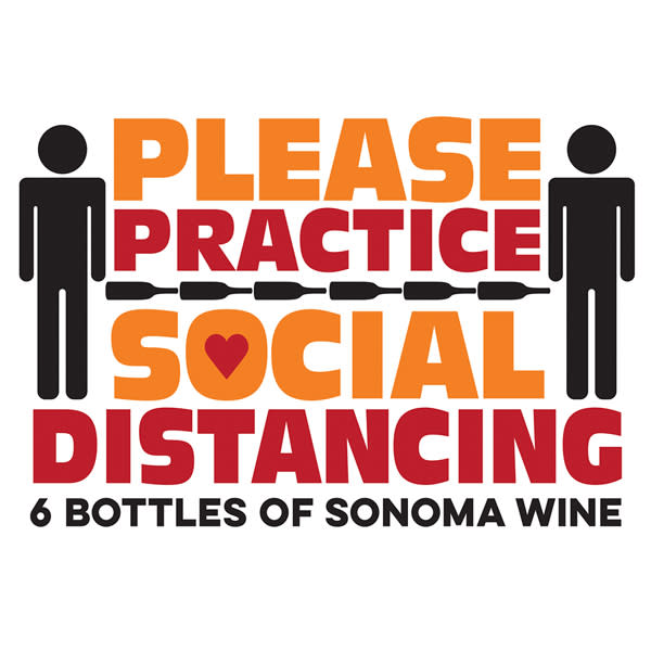 Social Distancing Wine Bottles Sonoma