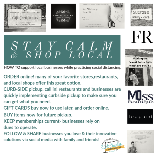 Stay Calm and Shop Local Tips