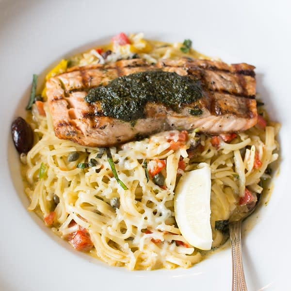 Grilled Salmon Pasta at Bellagreen