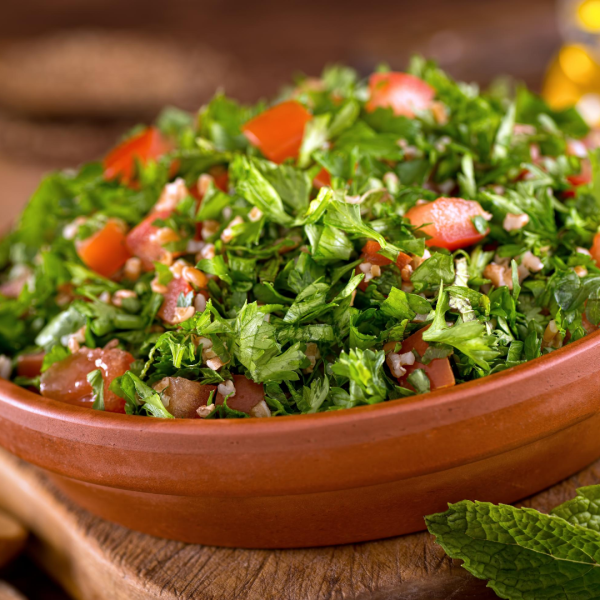Refreshing tabbouleh salad