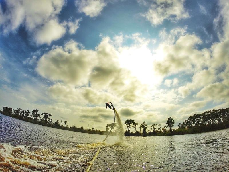 Flyboarding with Aquafly on the Tchefuncte River