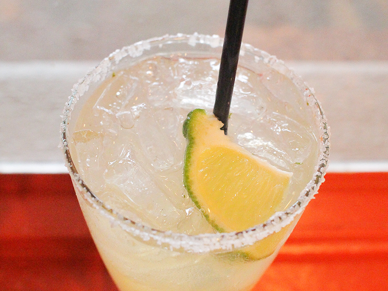 This TiaRita from Irving's La Margarita is served on the rocks with salt and lime.