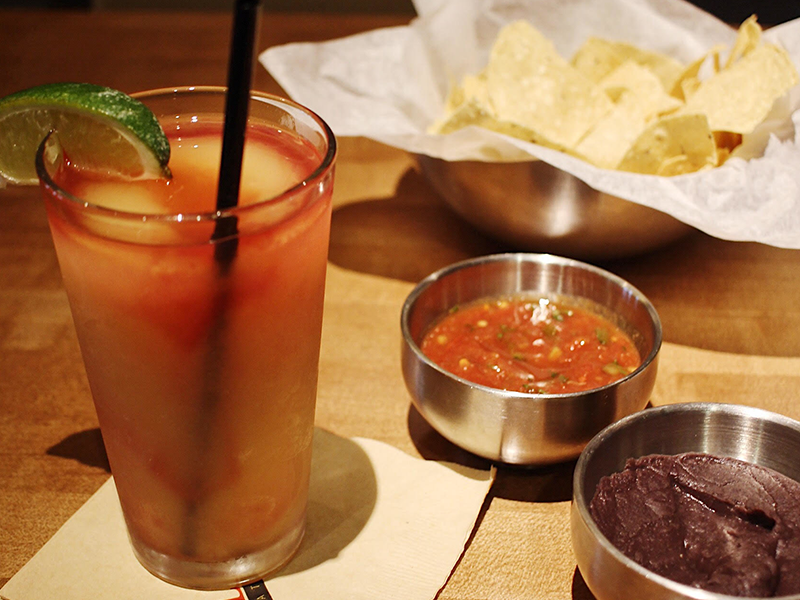 The Guava from Gloria's features fresh guava, orange juice, and agave nectar, and goes great with chips & salsa.