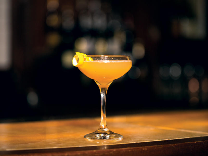 Lemon Hat cocktail from Trulucks in Austin Texas