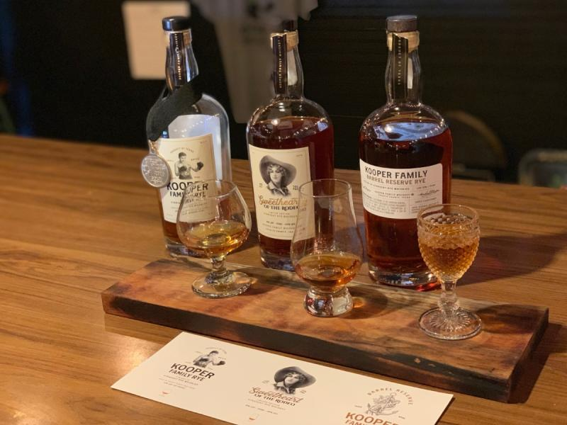 Whiskey Flight from Kooper Family Rye