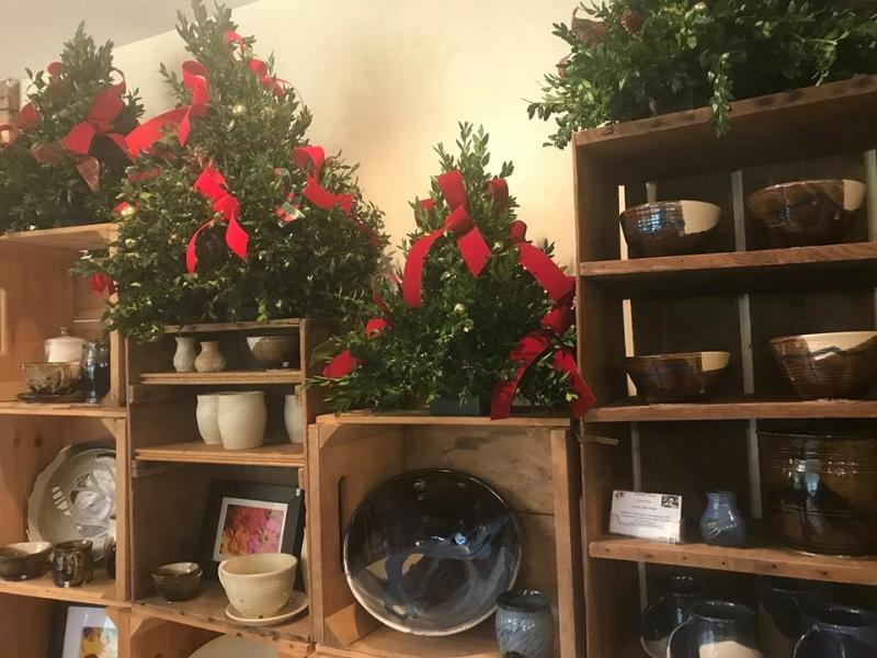 Holiday decor at Balet Flowers & Design