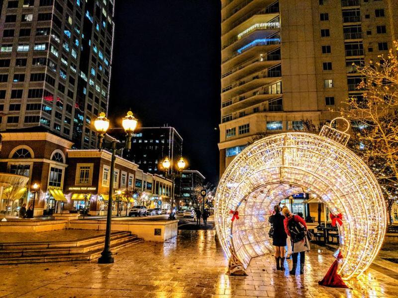 Ornament Town Center Coeur de Noël