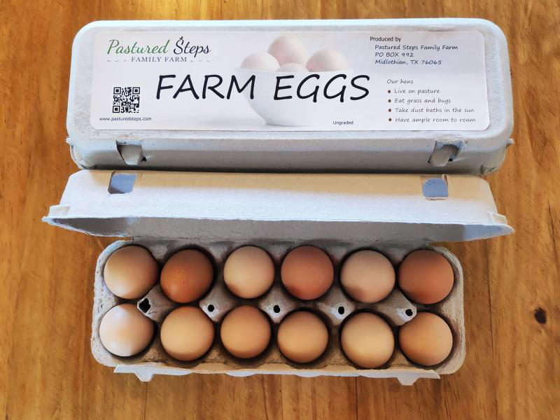 Pastured Steps farm fresh eggs