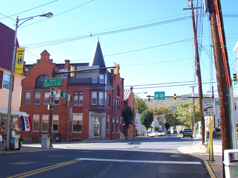 Water St and Church St intersection in Downtown Thurmont