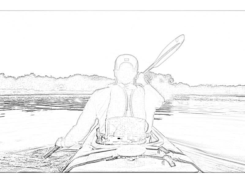 Kayaking Coloring Page