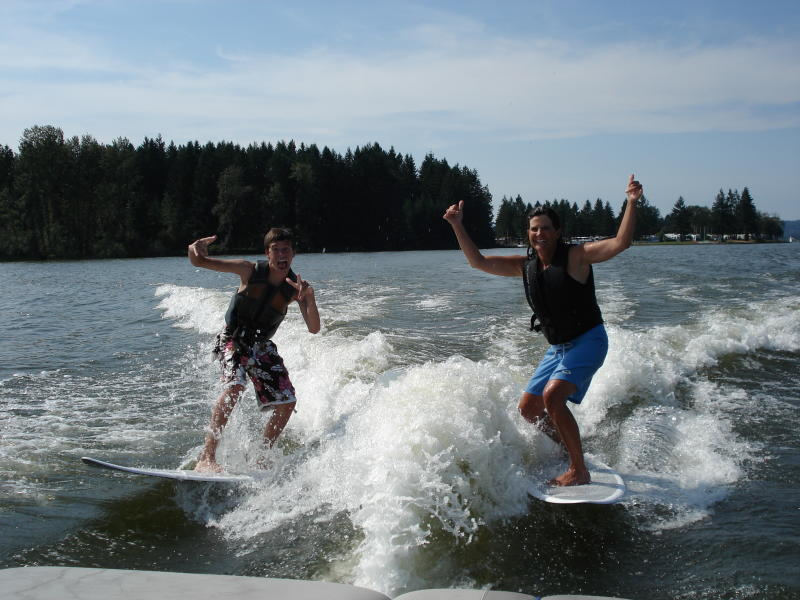 Watersports at Dexter Lake by Blue Turn