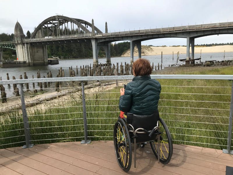 Viewing the Siuslaw Bridge by Meg Trendler