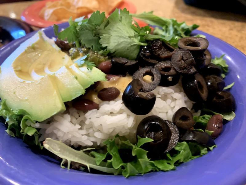 Cafe Yumm vegan bowl