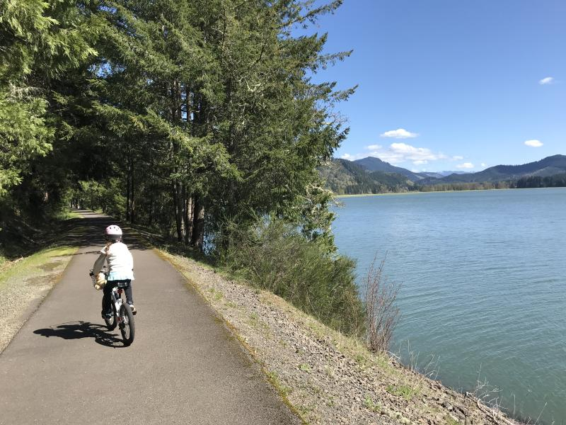 Row River Trail's Dorena Lake Views by Taj Morgan
