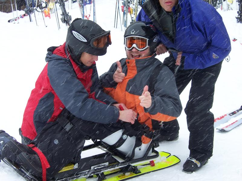 Adaptive Skiing by City of Eugene LRCS Department