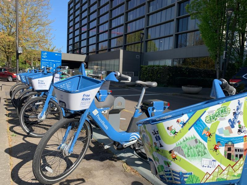 PeaceHealth Rides Bike Share at the Graduate Hotel by Melanie Griffin