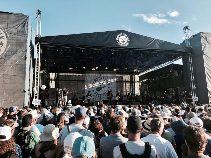 Group Performing at Newport Folk Festival
