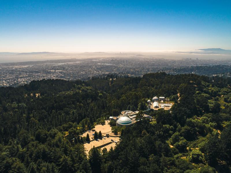 Aerial view of the Chabot Space & Science Center