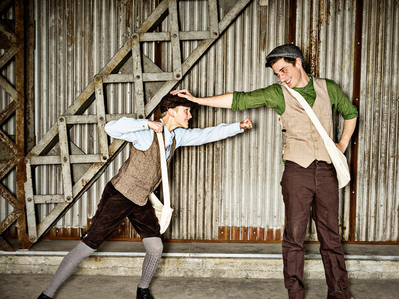 Newsies at SCERA Shell Outdoor Theatre - Newspaper Boys Fighting