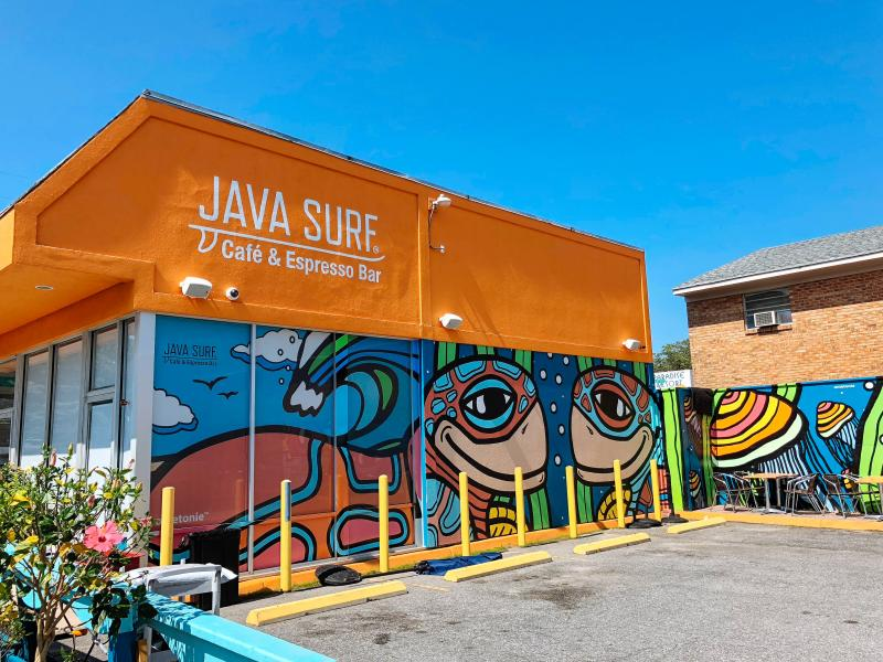 Onietonie Java Surf Mural at ViBe District