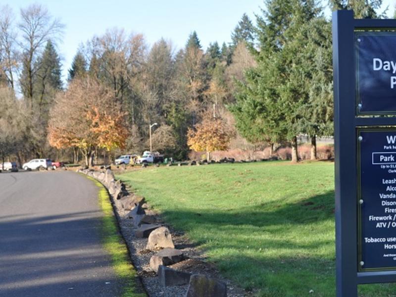 Daybreak Regional Park sign