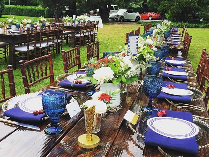 Willis Wedding Table setup