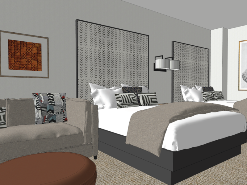 guest room rendering at Kalahari Resorts and Conventions Round Rock texas