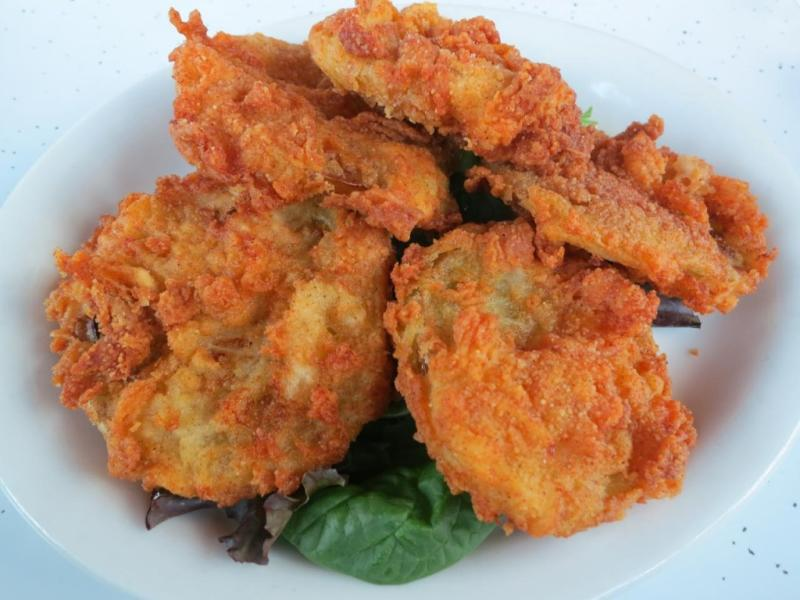 Fried green tomatoes from D'Licious Diner