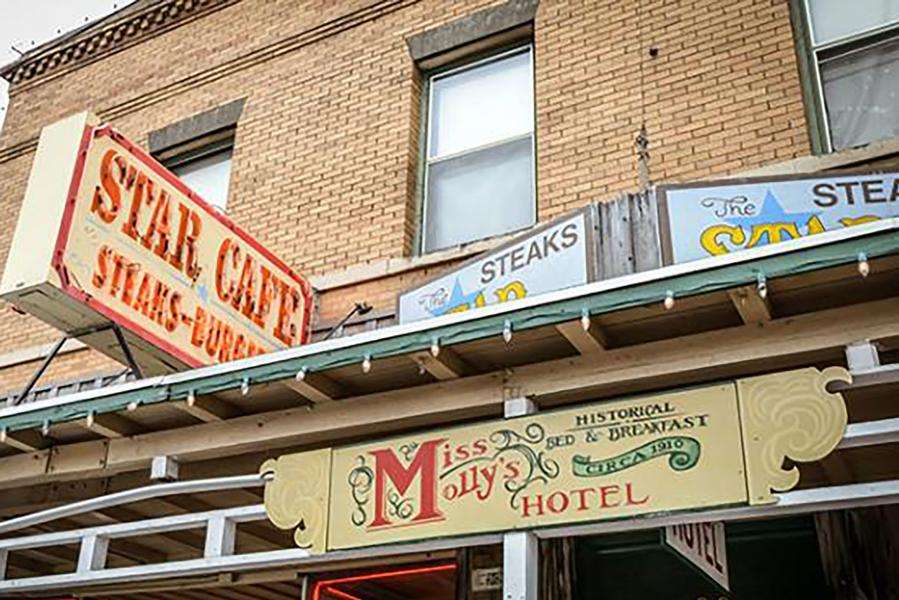 Photo of exterior of Miss Molly's Hotel