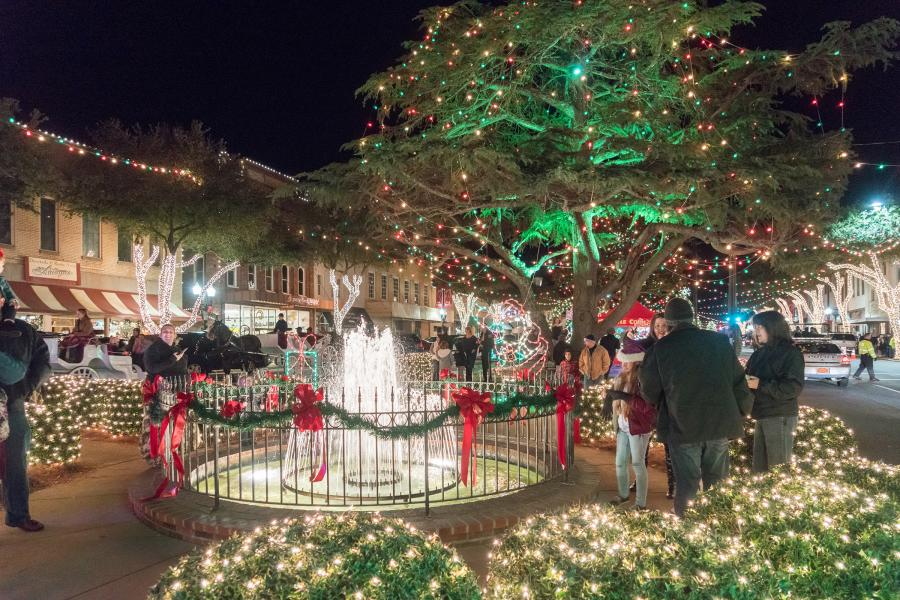 Downtown Forest City Christmas Lights
