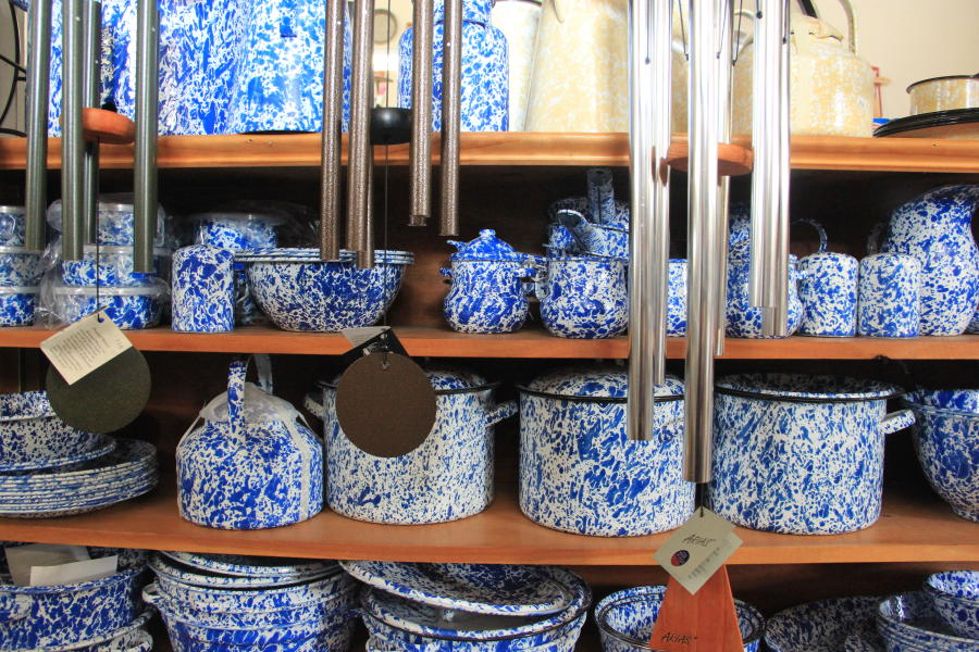 Washburn's General Store Iconic Blue Dishware