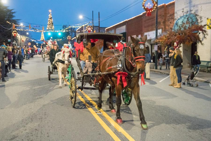 Christmas Parade in downtown Rutherfordton