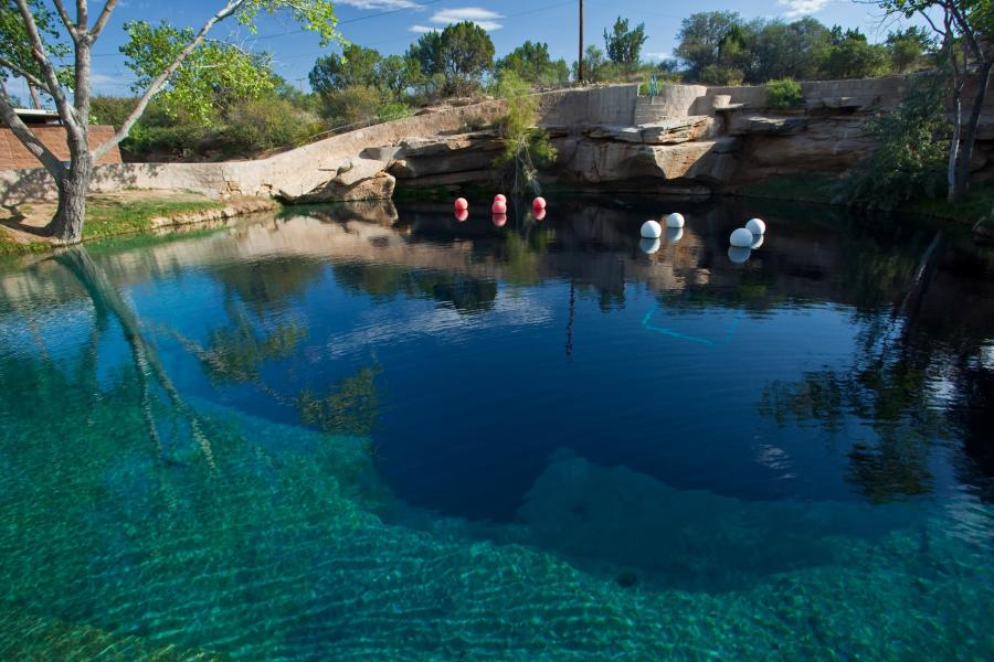 Blue Hole in Santa Rosa
