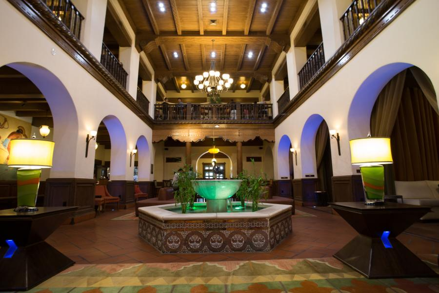 Hotel Andaluz lobby and fountain