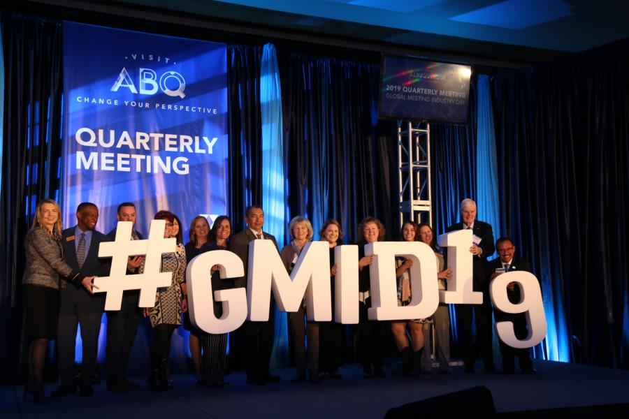 #GMID19 Sign held by Visit ABQ Staff and industry partners