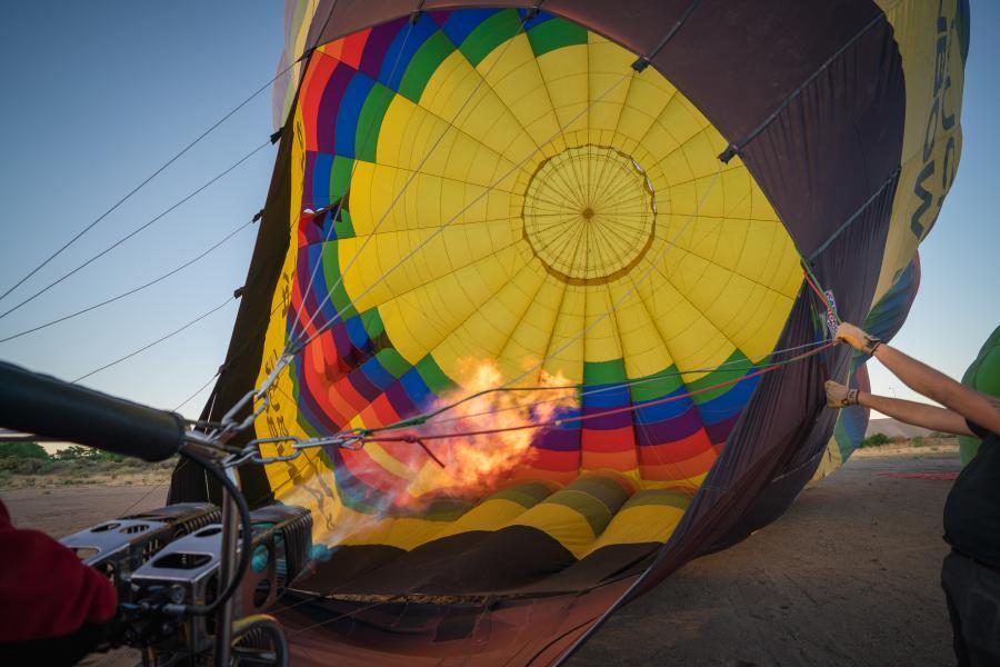 Hot Air Balloon being set up
