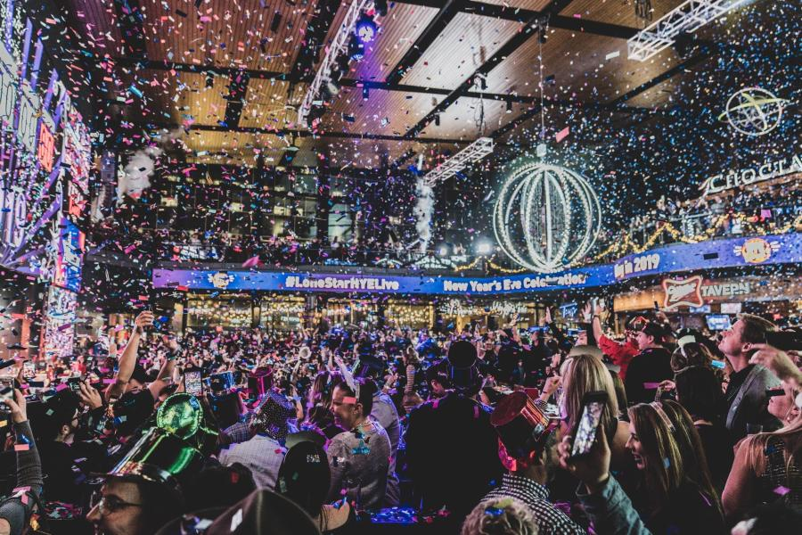 Photo of Texas Live! New Year's Eve Party with confetti and New Years Eve ball drop