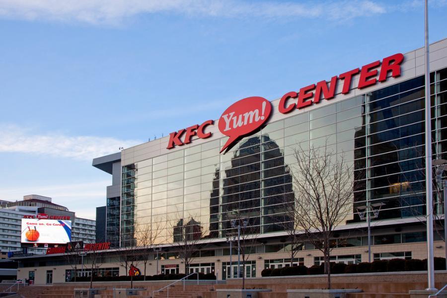 Exterior of the KFC Yum Center