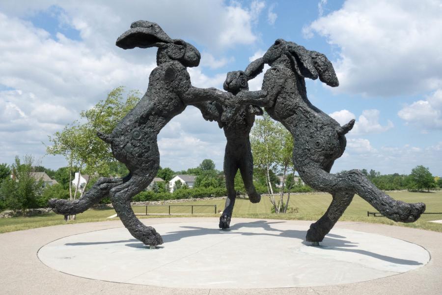 Ballantrae Dancing Hares