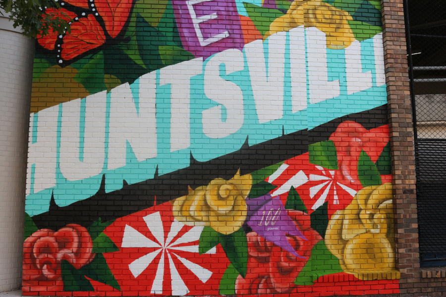 Close Up of Huntsville 19th Amendment Mural