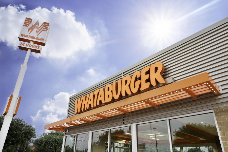 This Huntsville Whataburger shows off the chain's sleek new updated design.