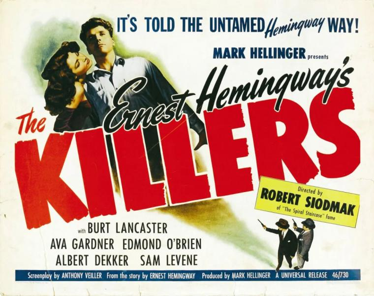 Movie Poster Art for Ava Gardner Film The Killers
