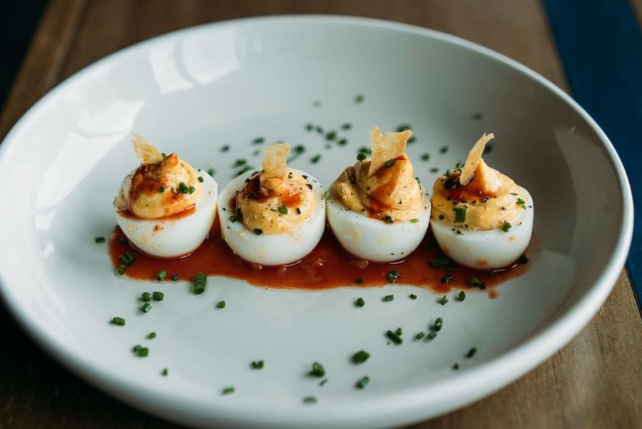 Deviled Eggs at The Cavalier in austin texas