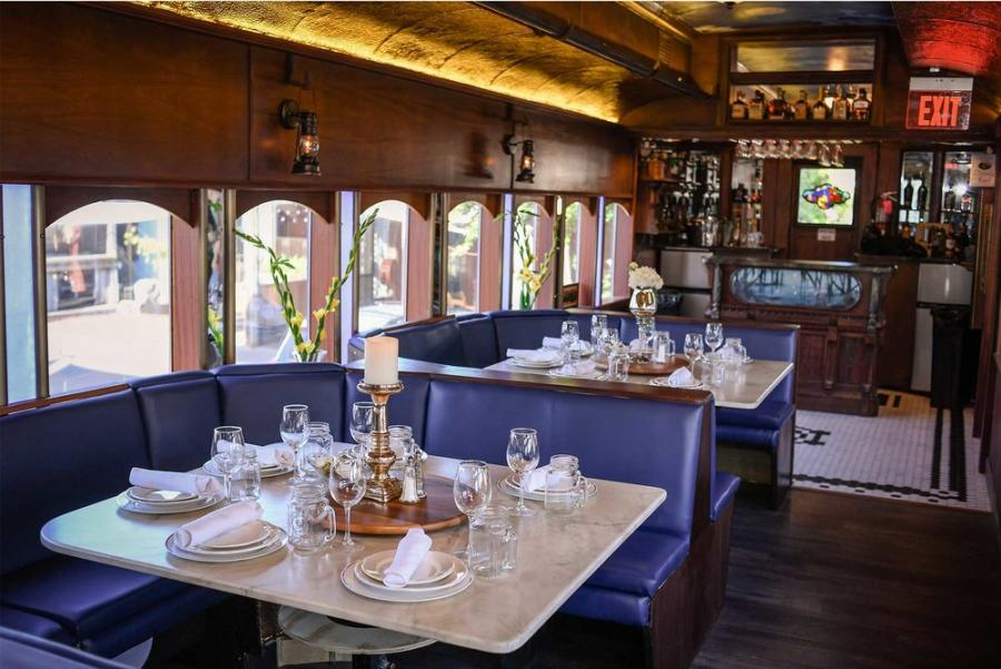 Blue Bayou Booths With Tableware