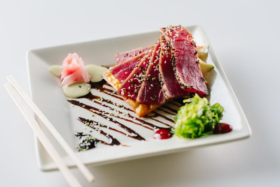Seared tuna from Goombay's Grille and Raw Bar in Kill Devil Hills, NC