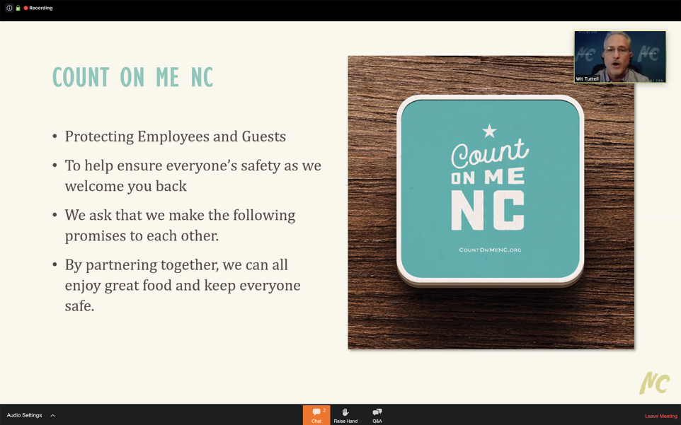 Count On Me NC program slide.