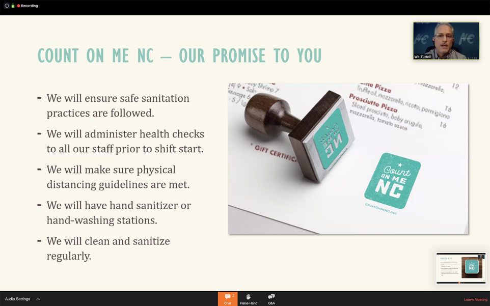 Count On Me NC promise slide.
